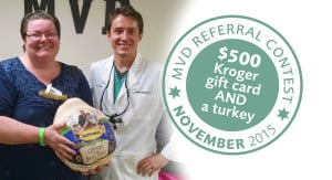 Tammi won a $500 Kroger gift card and a butterball turkey!