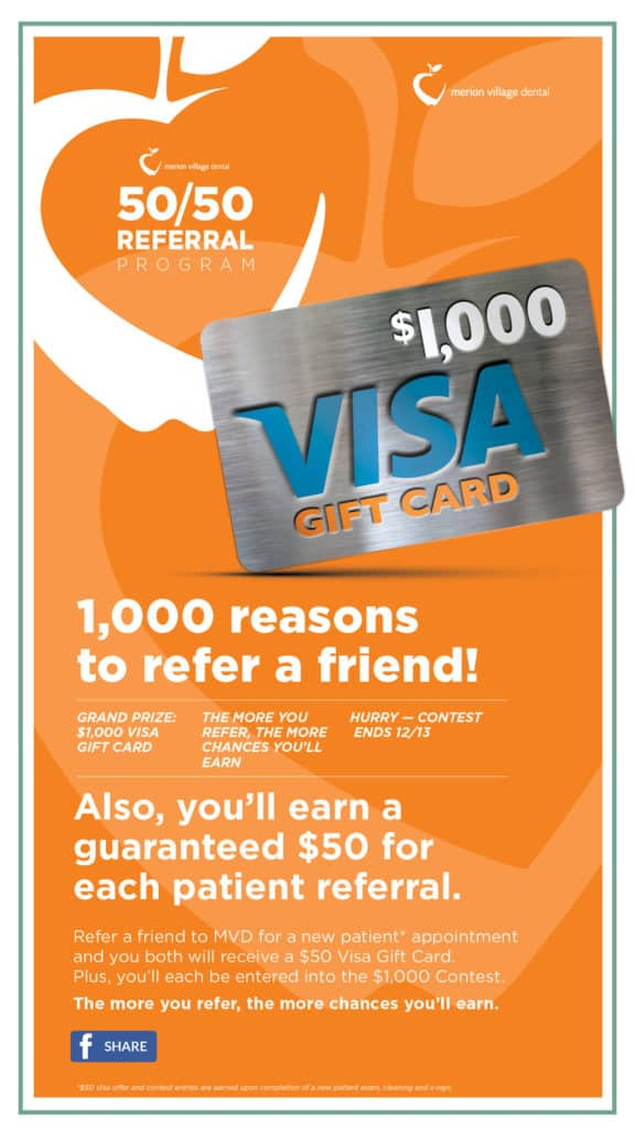 You could win a $1,000 Visa Gift Card!