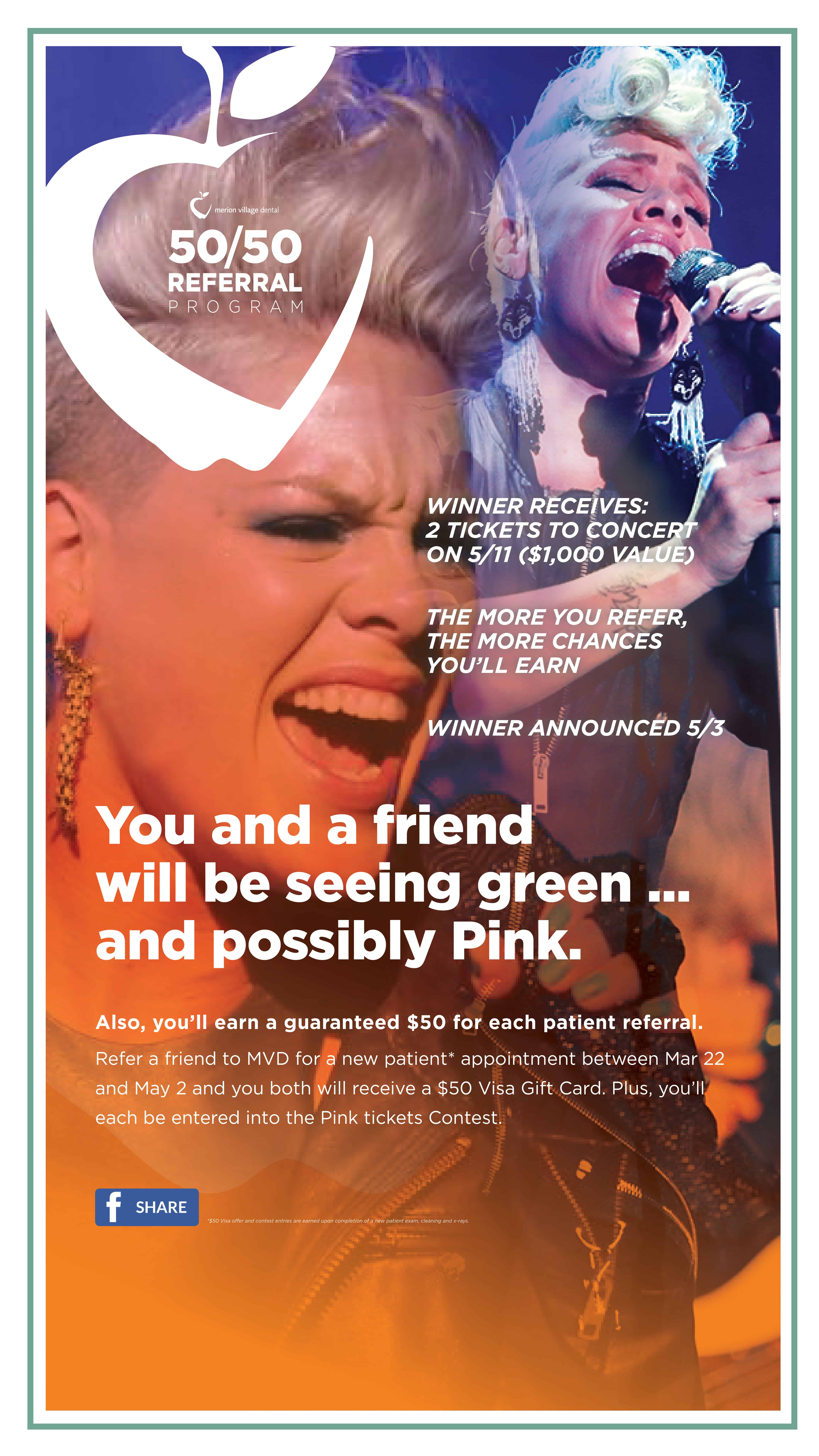 You could win tickets to see Pink in Concert!