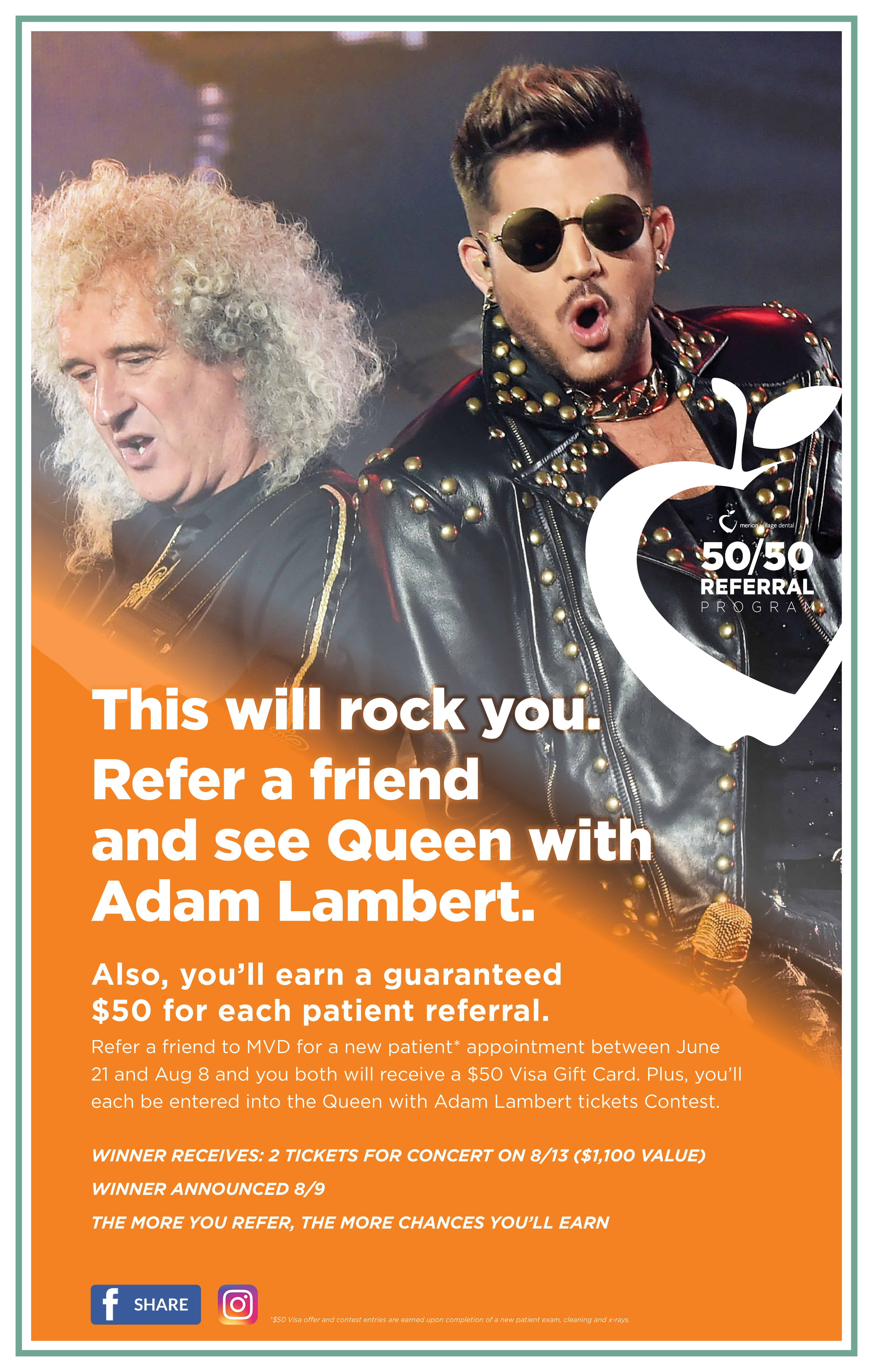 You could win tickets to see Queen with Adam Lambert!
