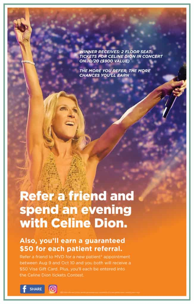 You could win tickets to see Celine Dion in concert!